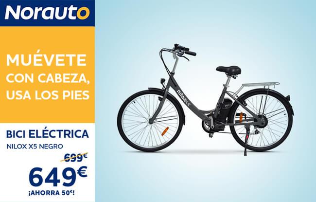 Oferta Bici eléctrica Nilox con Norauto